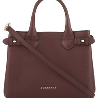 BURBERRY - Banner small check leather tote | Selfridges.com
