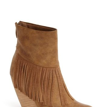 Women's Very Volatile 'Khloe' Fringe Demi Wedge Boot,