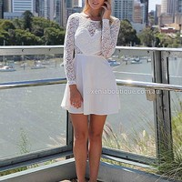 THE LUCKY ONE DRESS , DRESSES, TOPS, BOTTOMS, JACKETS & JUMPERS, ACCESSORIES, 50% OFF SALE, PRE ORDER, NEW ARRIVALS, PLAYSUIT, COLOUR, GIFT VOUCHER,,White,LACE,LONG SLEEVES Australia, Queensland, Brisbane