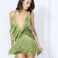 Nicole Handmade Tassel Fringe Dress