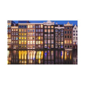 Traditional Amsterdam Architecture Canvas
