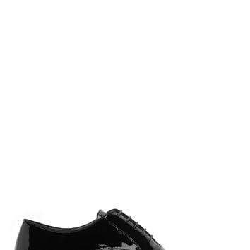 Lanvin Black Patent Leather Oxfords