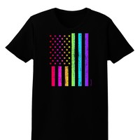 American Pride - Rainbow Flag Womens Dark T-Shirt