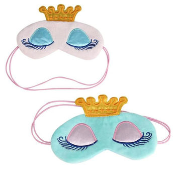 Beauty Girl Hot Popular Cute Eyes Cover Crown Style Travel Sleeping Blindfold Shade Eye Mask Oct 27