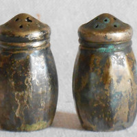 Silver salt and pepper shakers by Wm A Rogers.