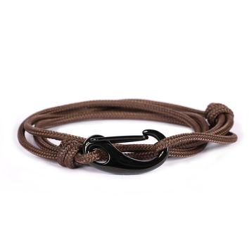 Brown + Black Tactical Cord Men's Bracelet
