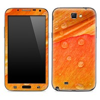 Orange Wet Leaf Skin for the Samsung Galaxy Note 1 or 2