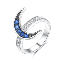 Roxi Rings for Women New Fashion Jewelry CZ Silver Color Star and Moon Rings Female Wedding Engagement Party Finger Ring