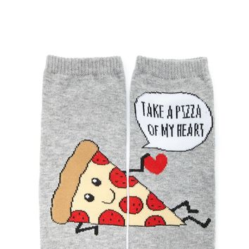 Take A Pizza Of My Heart Socks