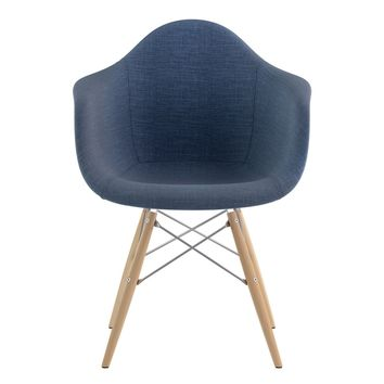 Mid Century Dowel Arm Chair Dodger Blue