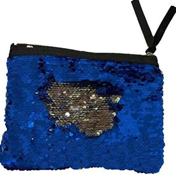 Menglihua Magic Reversible Mermaid Sequins Wallet Card Coin Phone Holder Gift Handbag