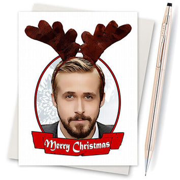 Ryan Gosling Christmas Card. Funny Christmas Card. Christmas Card Funny. Handmade Christmas. Christmas Gifts. Cute Boyfriend. Drive Movie.