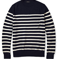 A.P.C. Striped Wool Crew Neck Sweater | MR PORTER