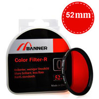 52mm Full Color Lens Filter for Canon Nikon & Pentax DSLR Cameras-Color Red