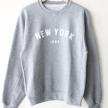 New York 199x Oversized Sweater - Grey