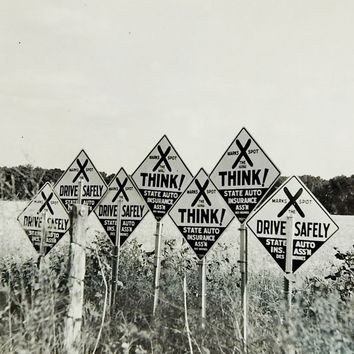 1950's Surreal Think Signs Photograph