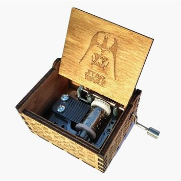 Star Wars Force Episode 1 2 3 4 5  Hand operated Type Music box  Theme Antique Carved wooden Musical Boxes Present Caixa De Musica   AT_72_6