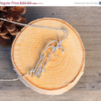 ON SALE Hello February SALE - Personalized Signature Necklace - Handwriting Jewelry -Valentines Gift - Bridesmaid Gift - Ships in 1-2 Weeks