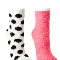 Fuzzy Socks - 2 Pack by Charlotte Russe - Multi