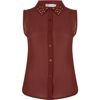 **Studded Collar Top by Love