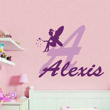 Wall decals custom personalized name from bestdecals on etsy for Fairy princess wall mural