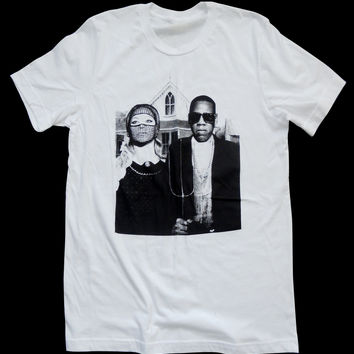 Jay & Bee - Pop Art - American Gothic T-shirt Mash-Up - Unisex - by American Anarchy Brand