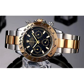 Rolex 2019 new men and women models high-end wild quartz watch Black