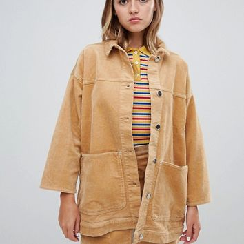 Monki cord trucker jacket at asos.com