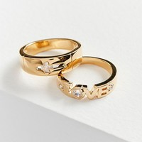Vanessa Mooney Stardust Ring Set | Urban Outfitters