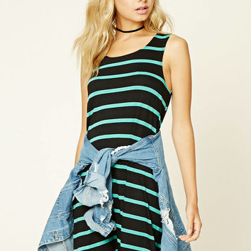 Contemporary Stripe Mini Dress