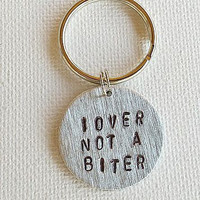 "Dog Tags For Dog, ""Lover Not A Biter"" , Personalized Ped ID Tag, Dog Tag, Pet Tag, Personalized Pet Tag, Pet Tag Quotes"