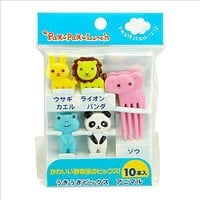 CUTEZCUTE Bento Decoration Box, Animals Food Picks and Forks