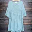 dreamy lace peasant dress - sage