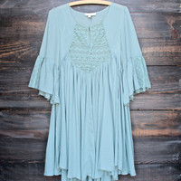 FINAL SALE - dreamy lace peasant dress - sage