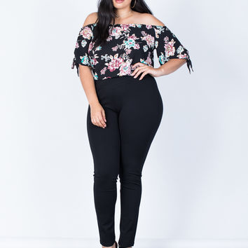 Plus Size Crossing Paths Banded Pants