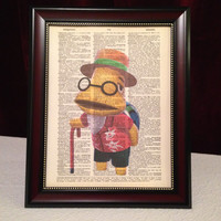 Set Of 5 Mixed Animal Crossing Collection Dictionary Art