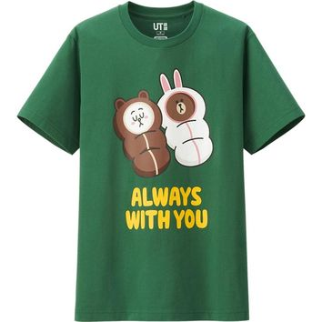 MEN LINE FRIENDS GRAPHIC SHORT SLEEVE T SHIRT | UNIQLO