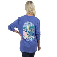 The Sweet Life Brunch Long Sleeve Tee in Violet by Lauren James - FINAL SALE