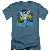 DC/NIGHTWING - S/S ADULT 30/1 - SLATE - LG