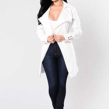 Trenched In Style Jacket - White