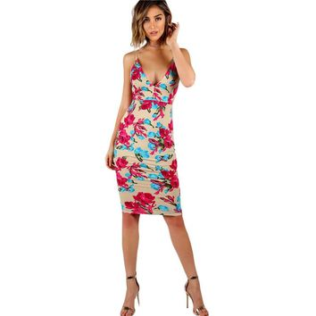 Sexy Party Women  Backless Midi Summer Dresses