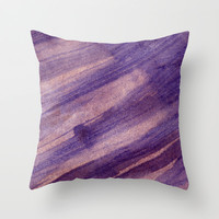 wet layers on wet Throw Pillow by Seb Mcnulty