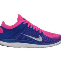 Nike Free 4.0 Flyknit Women's Running Shoes - Pink Flash
