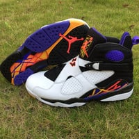 Air Jordan 8 Three Peat Men Basketball Shoes