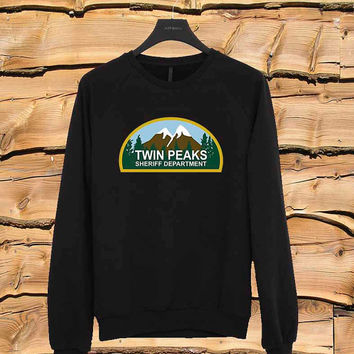 Twin Peaks Sheriff Department sweater Sweatshirt Crewneck Men or Women Unisex Size