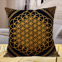 Bring Me the Horizon Sempiternal on Square Pillow Cover, Pillow Covers, Decorative throw pillows, Throw pillows, Pillow cases, Customize Pillow, size 16 inch, 18 inch, 20 inch by FixCenters