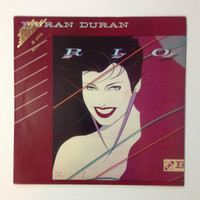 "Duran Duran - ""Rio"", vinyl record album, new wave LP, 1980s, simon le bon, taylor, hungry like the wolf"