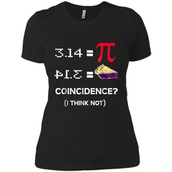 Pi Equals Pie Funny Math Pun Pi Day  Next Level Ladies Boyfriend Tee