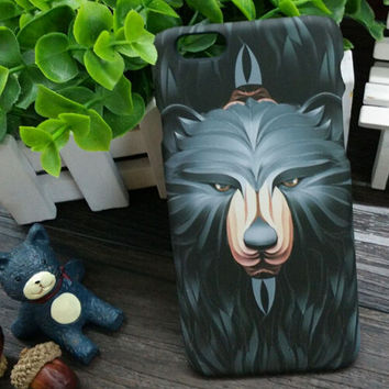 3D So Cool Luminous Black Bear Case Cover for iPhone 5s 6 6s Plus Gift 3