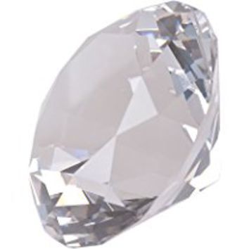 LONGWIN 80mm(3.1 inch) Crystal Diamond Paperweight Jewels Wedding Decorations Centerpieces Home Decor Valentine's Day Gift(Clear)